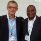 Prof Osman Sankoh and Karolinska Institute's Prof Hans Rosling  at the meeting.